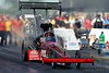 06 June 2010:  David Grubnic in his Kalitta Air Top Fuel dragster was defeated by Brandon Bernstein in the 1st round of eliminations.  NHRA Route 66 Nationals held at Route 66 Raceway, Joliet, Illinois.<br /> Mandatory Credit: John Rowland / Southcreek Global