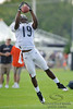 5 August 2010:  Chicago Bears wide receiver Devin Aromashodu (19) makes a catch during the Bears training camp practice at Olivet Nazarene University in Bourbonnais, IL.<br /> Mandatory Credit - John Rowland / Southcreek Global