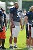 5 August 2010:  Chicago Bears defensive end Julius Peppers (90) during the Bears training camp practice at Olivet Nazarene University in Bourbonnais, IL.<br /> Mandatory Credit - John Rowland / Southcreek Global