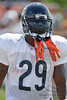 5 August 2010:  Chicago Bears running back Chester Taylor (29) heads to the field for the training camp practice at Olivet Nazarene University in Bourbonnais, IL.<br /> Mandatory Credit - John Rowland / Southcreek Global