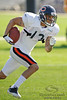 5 August 2010:  Chicago Bears wide receiver Johnny Knox (13) returns a kickoff during the Bears training camp practice at Olivet Nazarene University in Bourbonnais, IL.<br /> Mandatory Credit - John Rowland / Southcreek Global