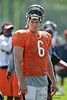 5 August 2010:  Chicago Bears quarterback Jay Cutler (6) during the Bears training camp practice at Olivet Nazarene University in Bourbonnais, IL.<br /> Mandatory Credit - John Rowland / Southcreek Global