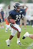 5 August 2010:  Chicago Bears rookie cornerback Cornelius Brown (39) returns a punt during the Bears training camp practice at Olivet Nazarene University in Bourbonnais, IL.<br /> Mandatory Credit - John Rowland / Southcreek Global