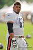 5 August 2010:  Chicago Bears offensive guard Roberto Garza (63) stretches during the Bears training camp practice at Olivet Nazarene University in Bourbonnais, IL.<br /> Mandatory Credit - John Rowland / Southcreek Global