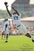 5 August 2010:  Chicago Bears wide receiver Devin Aromashodu (19) makes a leaping attempt for a pass during the Bears training camp practice at Olivet Nazarene University in Bourbonnais, IL.<br /> Mandatory Credit - John Rowland / Southcreek Global