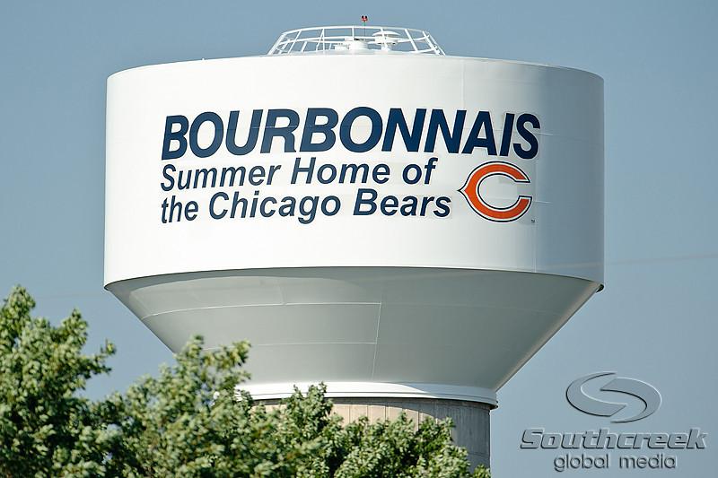 5 August 2010:  Chicago Bears training camp practice at Olivet Nazarene University in Bourbonnais, IL.<br /> Mandatory Credit - John Rowland / Southcreek Global