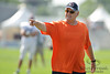 5 August 2010:  Chicago Bears Offensive Coordinator Mike Martz directs a player during the Bears training camp practice at Olivet Nazarene University in Bourbonnais, IL.<br /> Mandatory Credit - John Rowland / Southcreek Global