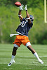 21 May 2010:  Wide receiver Earl Bennett (80) leaps high to make a catch during the Chicago Bears minicamp practice at Halas Hall in Lake Forest, Illinois.<br /> Mandatory Credit - John Rowland / Southcreek Global