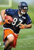 21 May 2010:  Tight end Kellen Davis (87) turns up filed after making a catch during the Chicago Bears minicamp practice at Halas Hall in Lake Forest, Illinois.<br /> Mandatory Credit - John Rowland / Southcreek Global