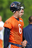 21 May 2010:  Quarterback Jay Cutler (6) during the Chicago Bears minicamp practice at Halas Hall in Lake Forest, Illinois.<br /> Mandatory Credit - John Rowland / Southcreek Global