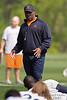 21 May 2010:  Head Coach Lovie Smith talks with players during the Chicago Bears minicamp practice at Halas Hall in Lake Forest, Illinois.<br /> Mandatory Credit - John Rowland / Southcreek Global