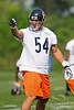 Featured in the May 31st issue of Sports Illustrated.  21 May 2010:  Linebacker Brian Urlacher (54) gives direction to teammates during the Chicago Bears minicamp practice at Halas Hall in Lake Forest, Illinois.<br /> Mandatory Credit - John Rowland / Southcreek Global