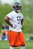 21 May 2010:  Linebacker Lance Briggs (55) during the Chicago Bears minicamp practice at Halas Hall in Lake Forest, Illinois.<br /> Mandatory Credit - John Rowland / Southcreek Global
