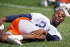 21 May 2010:  Cornerback Corey Graham (21) stretches during the Chicago Bears minicamp practice at Halas Hall in Lake Forest, Illinois.<br /> Mandatory Credit - John Rowland / Southcreek Global