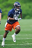21 May 2010:  Wide receiver Earl Bennett (80) runs a pass route during the Chicago Bears minicamp practice at Halas Hall in Lake Forest, Illinois.<br /> Mandatory Credit - John Rowland / Southcreek Global