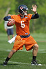 21 May 2010:  Quarterback Jay Cutler (6) throws during the Chicago Bears minicamp practice at Halas Hall in Lake Forest, Illinois.<br /> Mandatory Credit - John Rowland / Southcreek Global