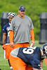 21 May 2010:  Offensive Line coach Mike Tice watches a drill during the Chicago Bears minicamp practice at Halas Hall in Lake Forest, Illinois.<br /> Mandatory Credit - John Rowland / Southcreek Global