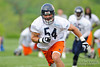 21 May 2010:  Linebacker Brian Urlacher (54) pursues to the ball during the Chicago Bears minicamp practice at Halas Hall in Lake Forest, Illinois.<br /> Mandatory Credit - John Rowland / Southcreek Global