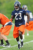 21 May 2010:  Wide receiver Devin Hester (23) goes in motion prior to a play during the Chicago Bears minicamp practice at Halas Hall in Lake Forest, Illinois.<br /> Mandatory Credit - John Rowland / Southcreek Global