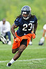 21 May 2010:  Wide receiver Devin Hester (23) runs a pass route during the Chicago Bears minicamp practice at Halas Hall in Lake Forest, Illinois.<br /> Mandatory Credit - John Rowland / Southcreek Global