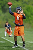 21 May 2010:  Quarterback Jay Cutler (6) throws a pass during the Chicago Bears minicamp practice at Halas Hall in Lake Forest, Illinois.<br /> Mandatory Credit - John Rowland / Southcreek Global