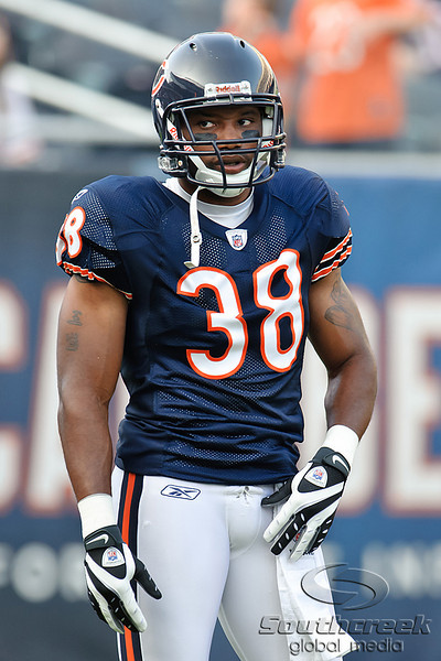 Chicago Bears safety Danieal Manning (38) before the preseason game between the Chicago Bears and the Oakland Raiders at Soldier Field in Chicago, IL. The Raiders defeated the Bears 32-17. <br /> Mandatory Credit: John Rowland / Southcreek Global