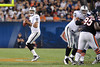 Oakland Raiders quarterback Jason Campbell (8) looks to throw down field during the preseason game between the Chicago Bears and the Oakland Raiders at Soldier Field in Chicago, IL. The Raiders defeated the Bears 32-17. <br /> Mandatory Credit: John Rowland / Southcreek Global