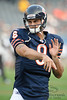 Chicago Bears quarterback Matt Gutierrez (8) warms up before the preseason game between the Chicago Bears and the Oakland Raiders at Soldier Field in Chicago, IL. The Raiders defeated the Bears 32-17. <br /> Mandatory Credit: John Rowland / Southcreek Global