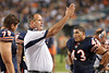 Chicago Bears offensive line coach Mike Tice gives instructions on the sideline during the preseason game between the Chicago Bears and the Oakland Raiders at Soldier Field in Chicago, IL. The Raiders defeated the Bears 32-17. <br /> Mandatory Credit: John Rowland / Southcreek Global