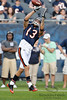 Chicago Bears wide receiver Johnny Knox (13) catches a pass during drills before the preseason game between the Chicago Bears and the Oakland Raiders at Soldier Field in Chicago, IL. The Raiders defeated the Bears 32-17. <br /> Mandatory Credit: John Rowland / Southcreek Global
