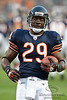 Chicago Bears running back Chester Taylor (29) runs the ball in drill before the preseason game between the Chicago Bears and the Oakland Raiders at Soldier Field in Chicago, IL. The Raiders defeated the Bears 32-17. <br /> Mandatory Credit: John Rowland / Southcreek Global
