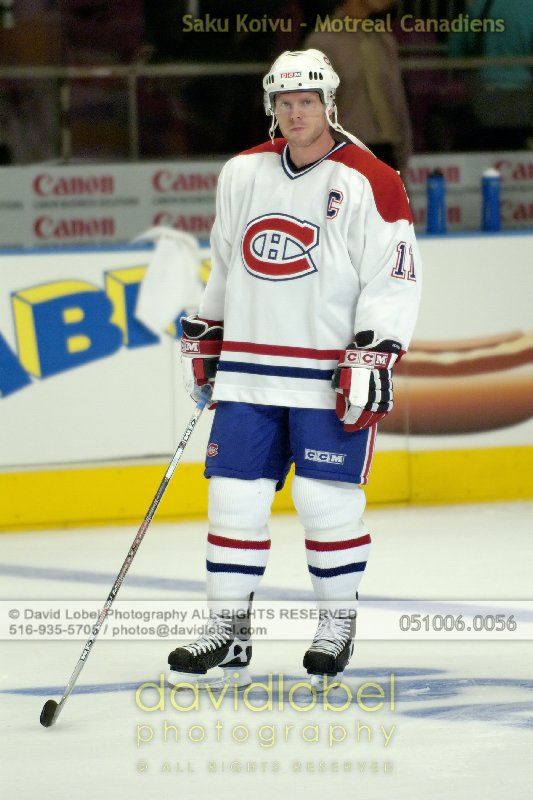 NEW YORK, NY - October 6, 2005: Saku Koivu of the Montreal Canadiens while playing against the New York Rangers.