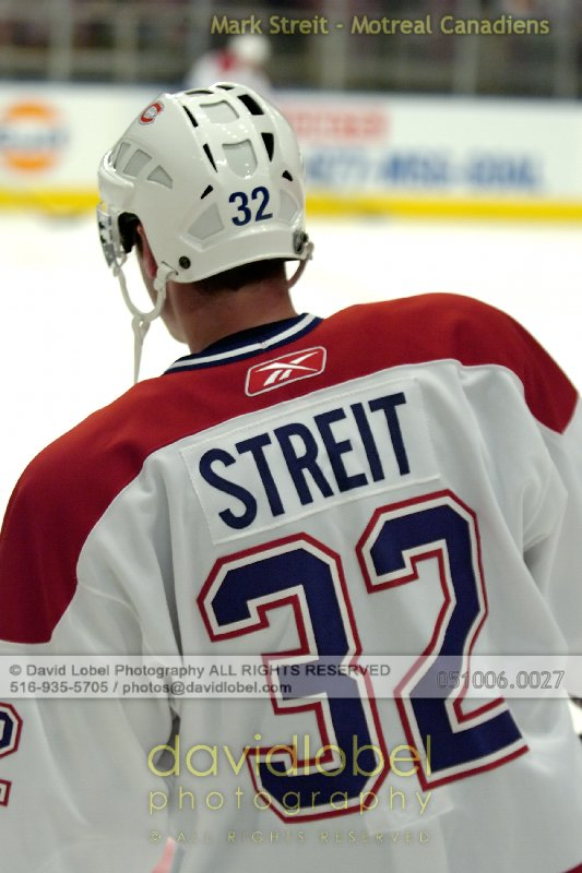 NEW YORK, NY - October 6, 2005: Mark Streit of the Montreal Canadiens hosted by the New York Rangers at Madison Square Garden in New York.