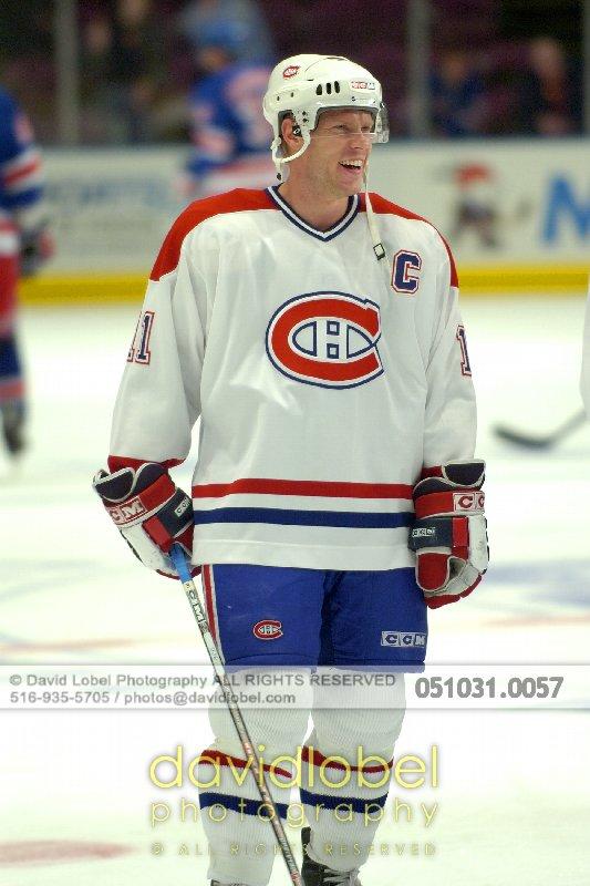 MANHATTAN, NY - October 31, 2005: Saku Koivu (#11) of the The Montreal Canadiens.