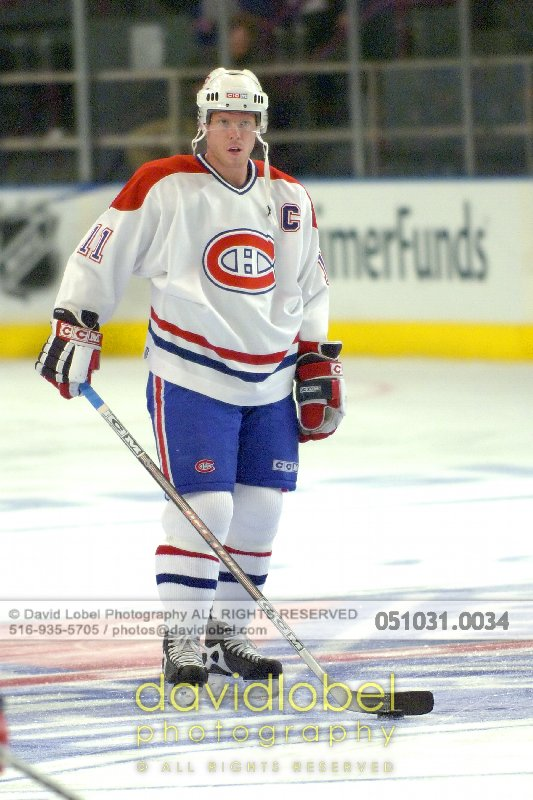 MANHATTAN, NY - October 31, 2005: Saku Koivu (#11) of the The Montreal Canadiens.