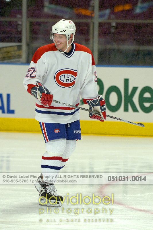MANHATTAN, NY - October 31, 2005: Mark Streit (#32) of the The Montreal Canadiens.