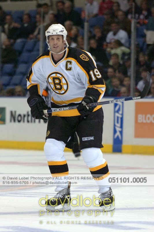 UNIONDALE, NY - November 1, 2005: Boston Bruin's Joe Thornton.