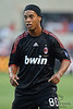 30 May2010:  AC Milan midfielder Ronaldinho (80) during the friendly match between the Chicago Fire and AC Milan at Toyota Park in Bridgeview, Illinois.  AC Milan defeated the Fire 1-0.<br /> Mandatory Credit: John Rowland / Southcreek Global