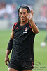 30 May2010:  AC Milan's Ronaldinho (80) waves to cheering fans prior to the friendly match between the Chicago Fire and AC Milan at Toyota Park in Bridgeview, Illinois.  AC Milan defeated the Fire 1-0.<br /> Mandatory Credit: John Rowland / Southcreek Global