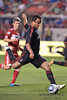 30 May2010:  AC Milan midfielder Mancini (30) shoots at goal during the friendly match between the Chicago Fire and AC Milan at Toyota Park in Bridgeview, Illinois.  AC Milan defeated the Fire 1-0.<br /> Mandatory Credit: John Rowland / Southcreek Global