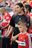 30 May2010:  AC Milan defender Luca Antonini (77) prior to the friendly match between the Chicago Fire and AC Milan at Toyota Park in Bridgeview, Illinois.  AC Milan defeated the Fire 1-0.<br /> Mandatory Credit: John Rowland / Southcreek Global