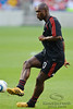 30 May2010:  AC Milan captain, midfielder Clarence Seedorf (10) warms up prior to the friendly match between the Chicago Fire and AC Milan at Toyota Park in Bridgeview, Illinois.  AC Milan defeated the Fire 1-0.<br /> Mandatory Credit: John Rowland / Southcreek Global