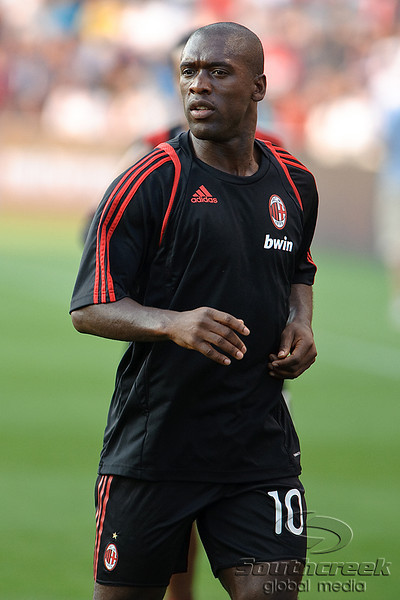 30 May2010:  AC Milan captain, midfielder Clarence Seedorf (10) prior to the friendly match between the Chicago Fire and AC Milan at Toyota Park in Bridgeview, Illinois.  AC Milan defeated the Fire 1-0.<br /> Mandatory Credit: John Rowland / Southcreek Global