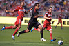 30 May2010:  AC Milan midfielder Mancini (30) on the attack during the friendly match between the Chicago Fire and AC Milan at Toyota Park in Bridgeview, Illinois.  AC Milan defeated the Fire 1-0.<br /> Mandatory Credit: John Rowland / Southcreek Global
