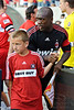 30 May2010:  AC Milan captain, midfielder Clarence Seedorf (10) heads onto the field prior to the friendly match between the Chicago Fire and AC Milan at Toyota Park in Bridgeview, Illinois.  AC Milan defeated the Fire 1-0.<br /> Mandatory Credit: John Rowland / Southcreek Global