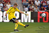30 May2010:  Chicago Fire goalkeeper Andrew Dykstra (40) sends the ball up field during the friendly match between the Chicago Fire and AC Milan at Toyota Park in Bridgeview, Illinois.  AC Milan defeated the Fire 1-0.<br /> Mandatory Credit: John Rowland / Southcreek Global