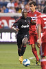 30 May2010:  AC Milan's Clarence Seedorf (10) brings the ball forward during the friendly match between the Chicago Fire and AC Milan at Toyota Park in Bridgeview, Illinois.  AC Milan defeated the Fire 1-0.<br /> Mandatory Credit: John Rowland / Southcreek Global