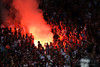 "30 May2010:  Chicago Fire fans set off flares in the ""Fire Pit"" during the friendly match between the Chicago Fire and AC Milan at Toyota Park in Bridgeview, Illinois.  AC Milan defeated the Fire 1-0.<br /> Mandatory Credit: John Rowland / Southcreek Global"