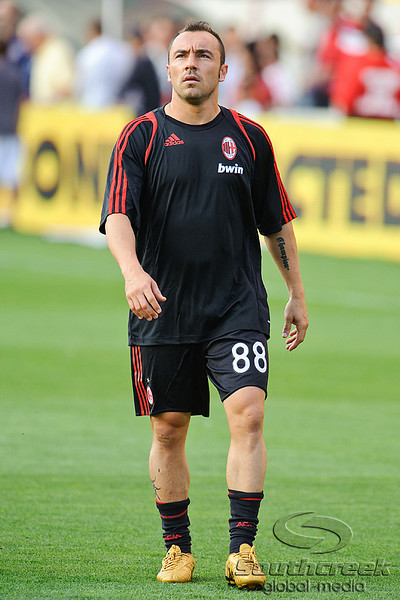 30 May2010:  AC Milan midfielder Christian Brocci (20) prior to the friendly match between the Chicago Fire and AC Milan at Toyota Park in Bridgeview, Illinois.  AC Milan defeated the Fire 1-0.<br /> Mandatory Credit: John Rowland / Southcreek Global