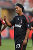 30 May2010:  AC Milan's Ronaldinho (80) acknowledges the fans during the friendly match between the Chicago Fire and AC Milan at Toyota Park in Bridgeview, Illinois.  AC Milan defeated the Fire 1-0.<br /> Mandatory Credit: John Rowland / Southcreek Global